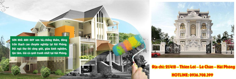 Banner dịch vụ sơn nhà tại Hải Phòng