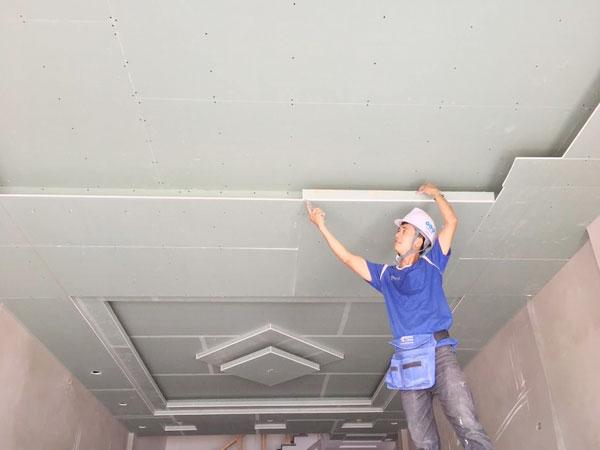 thi công trần thạch cao giá rẻ tại Hải Phòng